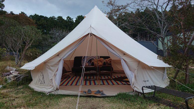 藤乃煌(ふじのきらめき)、施設内のテントの様子