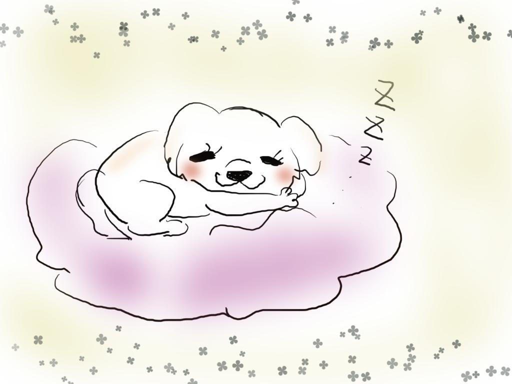 寝てるうめちゃんのイラスト