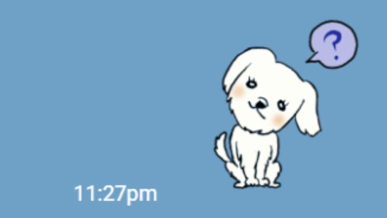 制作中の愛犬のLINEスタンプの画像
