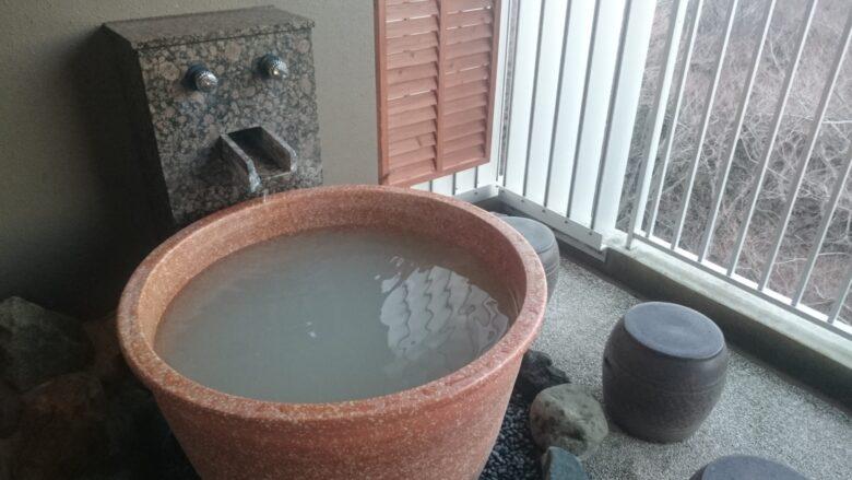 箱根「凛香」の温泉。にごり湯です。