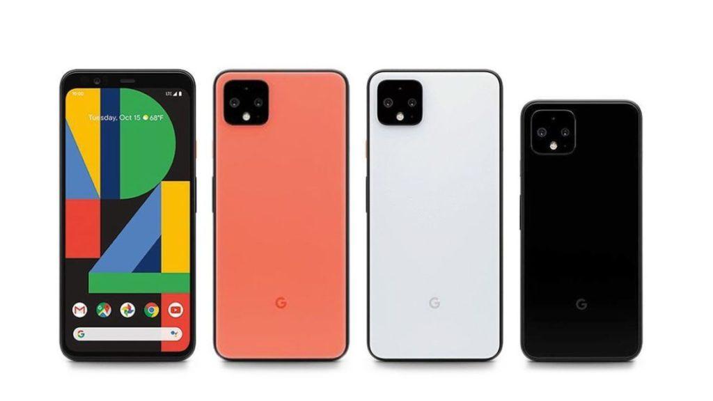 Pixel 4の写真。カラーラインナップ。