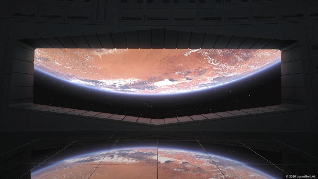 スターウォーズのスタイリッシュなZoom背景画像。