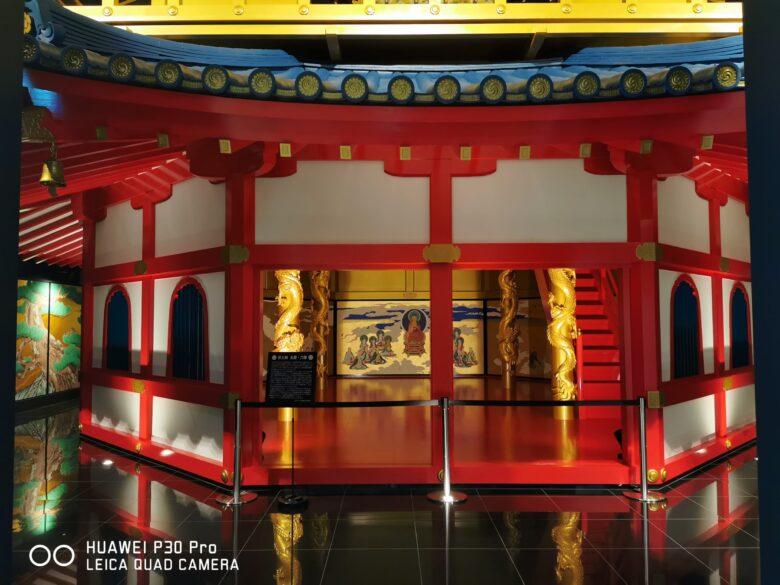 泰巖歴史美術館(博物館)の復元安土城天守閣の写真。その1。