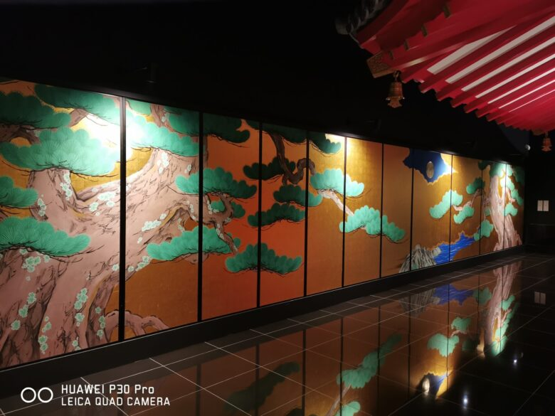 泰巖歴史美術館(博物館)の復元松図の写真。その1。