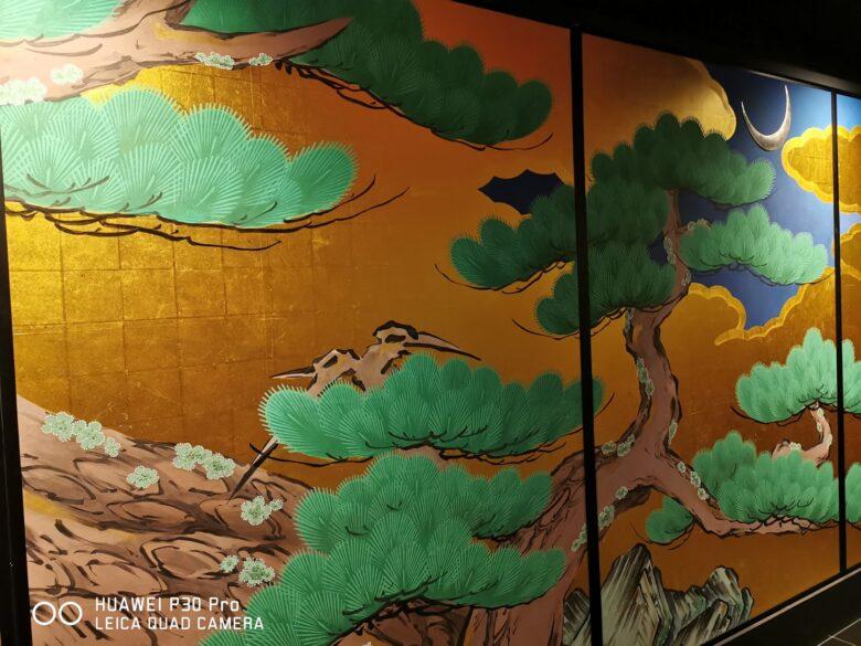 泰巖歴史美術館(博物館)の復元松図の写真。その2。