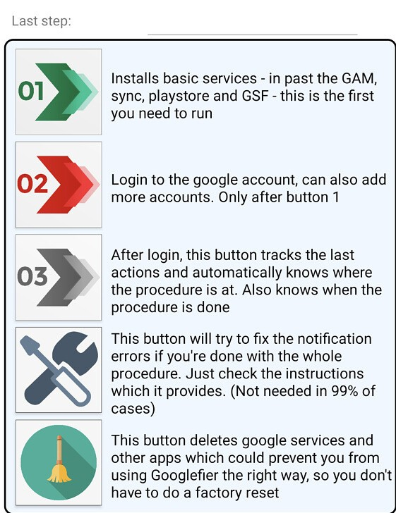 P40 ProにGMSを簡単にインストール。Googlefierの画面。