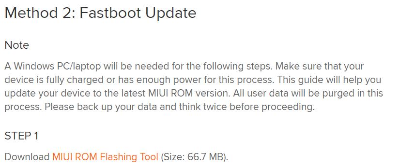 Xiaomi Mi11 UltraにROM焼きするためのツール「Mi Flash」のダウンロード画面です。