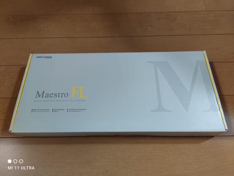 ARCHISS MaestroFLの外箱です。