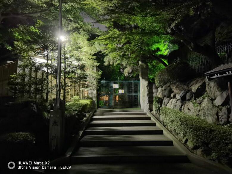 HUAWEI Mate X2で撮影した写真。10倍ズーム。夜景写真。